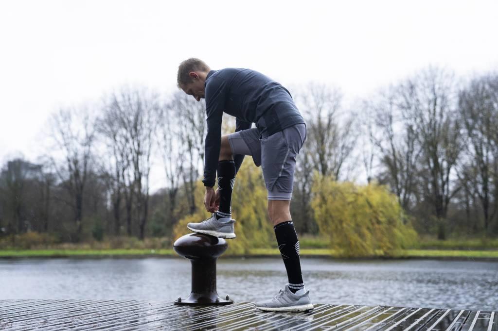 STOX Running Socks Mannen - Zwart / Ijsgrijs
