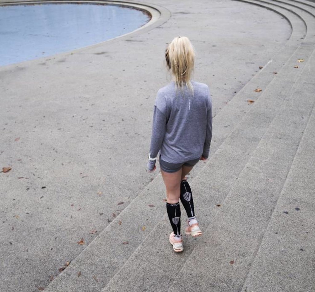 STOX Running Socks Damen - Schwarz / Hellrosa