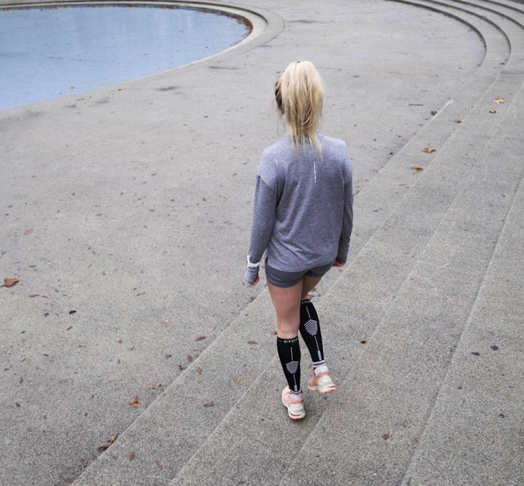 STOX Running Socks Vrouwen - Zwart / Lichtroze