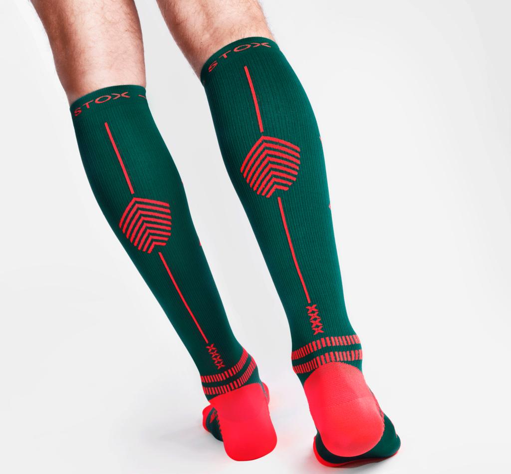 STOX Running Socks Herren - Grün / Orange
