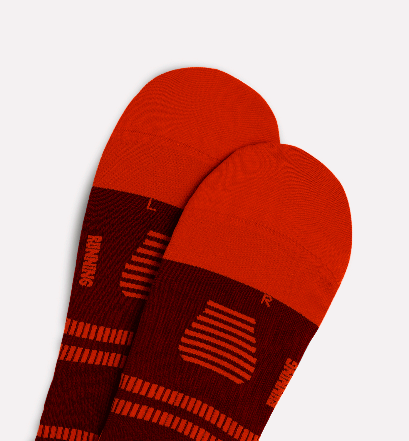 STOX Running Socks Men - Bordeaux / Red