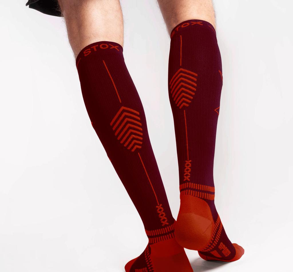 STOX Running Socks Herren - Bordeaux / Rot