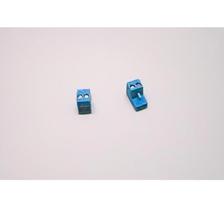 Aansluitklem blauw 73775