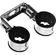 Walraven Dubbele pijpbeugel 15mm met zwart rubber 3215015