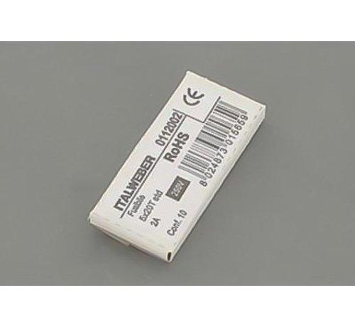 Agpo/Ferroli Glaszekering zandgevuld 2A 10 stuks 3286099