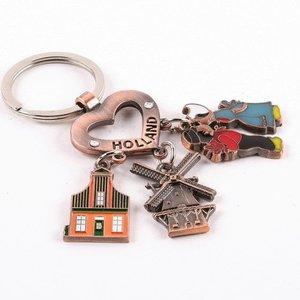 Typisch Hollands Schlüsselanhänger Holland mit Charms