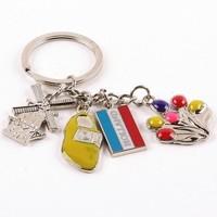 Typisch Hollands Keychain 4 Dutch Charms