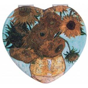 Robin Ruth Fashion Spiegel Box Herzform Sonnenblumen