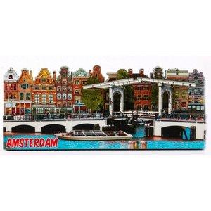 Typisch Hollands Magneet 2D Magere brug Amsterdam