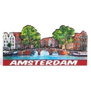 Typisch Hollands Magneet 2D Compilatie -brug Amsterdam