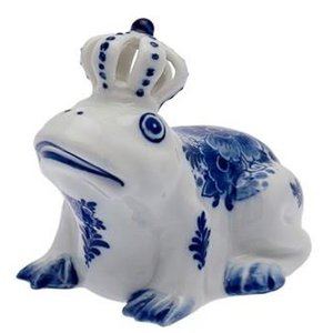 Typisch Hollands Delft Blue Frog König