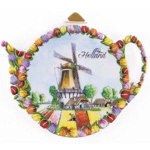 Typisch Hollands Theezak - Schoteltje - Tulpen - Molen
