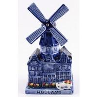 Typisch Hollands Delfter blaue Windmühle mit Musik
