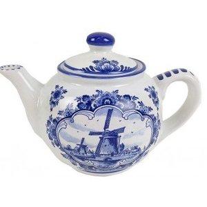Typisch Hollands Theepot - Delfts blauw