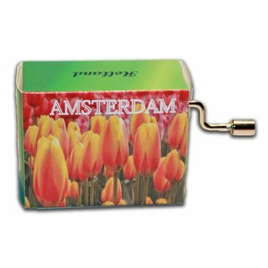Typisch Hollands Muziekdoosje - Amsterdam