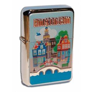 Typisch Hollands Zipper Petrol lighter - Amsterdam Village