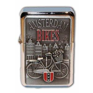 Typisch Hollands Zipper-Benzinfeuerzeug - Amsterdam - Fahrräder