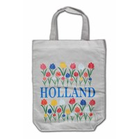 Typisch Hollands Eco linen tote bag - Holland Tulips
