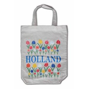 Typisch Hollands Eco Leinentasche - Holland Tulpen