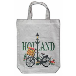 Typisch Hollands Eco linen carrier bag - Holland - Bicycle