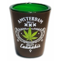 Typisch Hollands Borrelglas Amsterdam - Cannabis