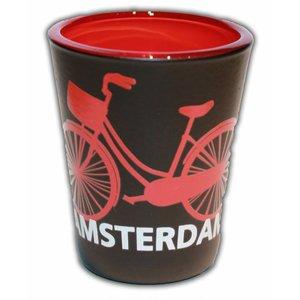 Typisch Hollands Borrelglas - Amsterdam - Fiets