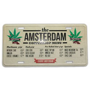 Typisch Hollands Amsterdam Kentekenplaat - Coffeeshopmenu
