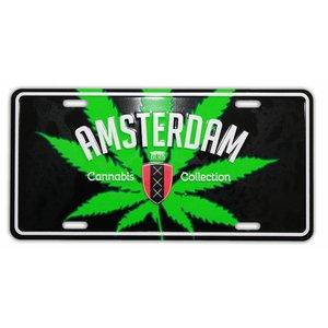 Typisch Hollands Amsterdam Kentekenplaat Cannabis