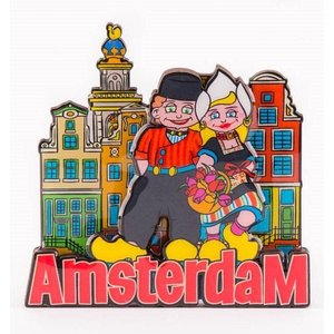 Typisch Hollands Magneet Amsterdam - Echtpaar