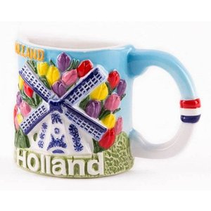 Typisch Hollands Magnet - Halb Tasse