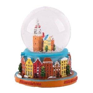 Typisch Hollands Sneeuwschudbol - Amsterdam 7cm