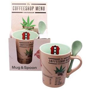 Typisch Hollands Cannabis Items Mug with Spoon