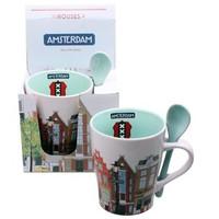 Typisch Hollands Becher mit Löffel Amsterdam