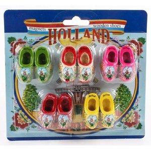 Typisch Hollands Clog-magnets - Discount card 5 pieces