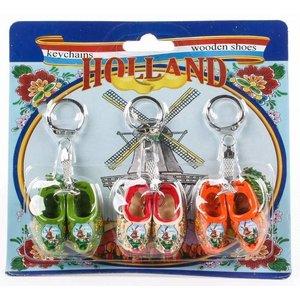 Typisch Hollands Wooden shoe keychains Discount card