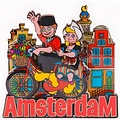 Typisch Hollands Magnet Amsterdam - Bicycle - Couple