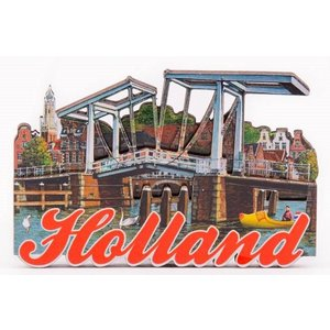 Typisch Hollands Magnet - Haarlem - Ophaalbrug