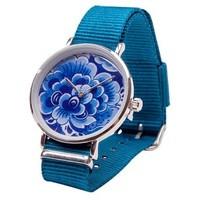 Typisch Hollands Delfts blauw Horloge - Bloem