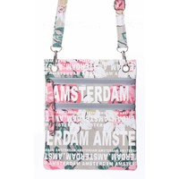 Robin Ruth Fashion Nektas - Passport bag - Amsterdam Flowers