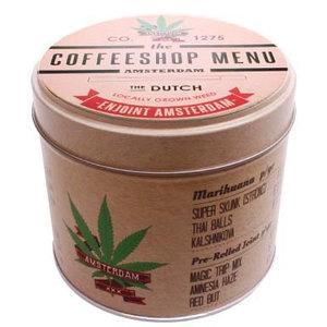 Typisch Hollands Cannabis Items Stroopwafels im Blik Coffeeshop