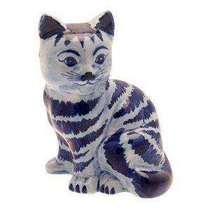 Typisch Hollands Delft blaue Katze