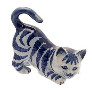 Heinen Delftware Kat Delfts blauw