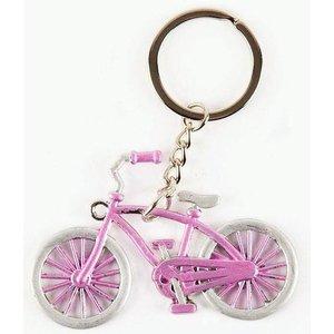 Typisch Hollands Sleutelhanger fiets roze Amsterdam