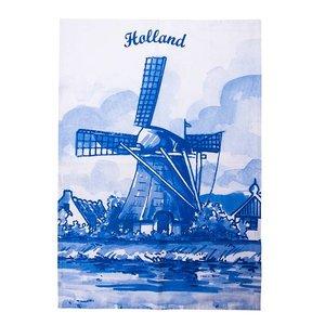 Typisch Hollands Spültuch - Mühlen - Delft