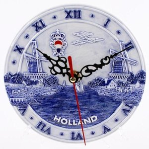 Typisch Hollands Wall clock Delft blue - Holland