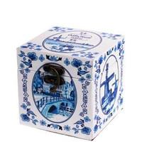 Typisch Hollands Aufbewahrungsbox aus Holz - Delfter Blau