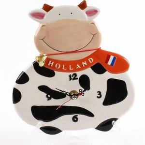 Typisch Hollands Wanduhr Kuh 15 cm