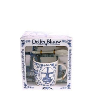 Typisch Hollands Mug, spoon, dish Holland Delft blue
