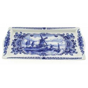 Typisch Hollands Delfts blauwe cakeschaal