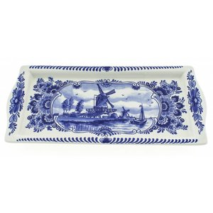 Typisch Hollands Delft's blue cakeschaal